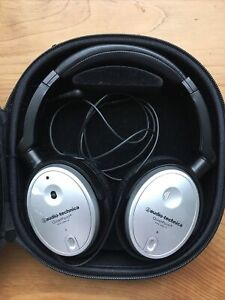 Audio-Technica QuietPoint ATH-ANC7B Headphones- Black Noise Cancelling Pre-Owned