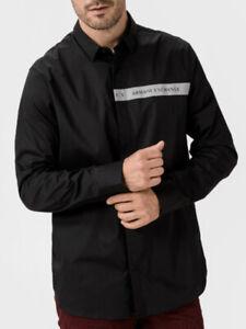 Armani Exchange Shirt All Sizes Black Original XS S M L XL Mens RRP £79.99 AX