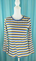 Anthropologie Skies Are Blue Striped Bell Sleeve Knit Top Size Small Pre-Owned