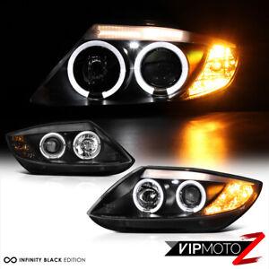 For 03-08 BMW Z4 Xenon Model Dual Halo Projector Black Headlight Left+Right Lamp