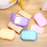 40Pcs Disposable Hand Washing Tablet Travel Carry Toilet Soap Paper