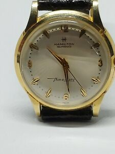 Hamilton Thin O Matic Wristwatch In 14K With box