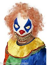 Halloween Evil Clown Circo della morte Horror lattice con capelli e Mask Fancy Dress