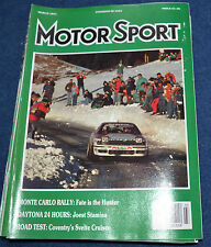 Motor Sport March 1991 Jaguar XJ6, Audi Coupe S2, Daytona 24hrs, Monte