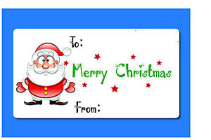 24 Christmas Present Sticky Labels Tags Blank xmas Write on Blank Labels