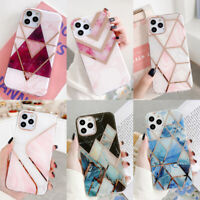 For iPhone 11 12 Pro Max XR XS X 8 7 Plus Marble Silicone Soft Phone Case Cover