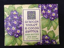 GREENWICH BAY SOAP CO/ AFRICAN VIOLET & COCOA BUTTER SHEA SPA SOAP 10.5 OZ