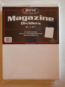 """BCW Magazine Dividers (25 Stück) * weiß * 8 1/2"""" x 11 1/4"""""""