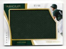CHAD PINDER MLB 2017 IMMACULATE COLLECTION IMMACULATE JUMBO MATERIALS (ATHLETICS
