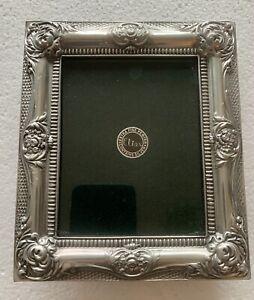 "Elias ArtMetal 2.5x3.8"" 1704 'Floral Swag' Frame American Sterling 1991, 3.5x4.8"