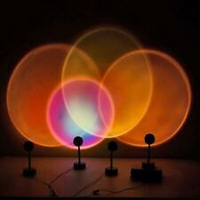 Usb Led Sunset Rainbow Projector Atmosphere Lamp Home Decor TikTok Night Light