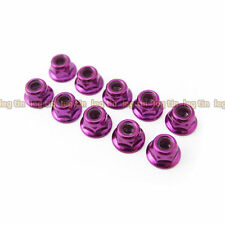 Heavy Duty 4mm Low Mass Lock Flanged Nut Set (10pcs) Pur for Rc car [Lt50302pu]