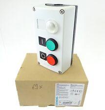 Siemens 3SB3803-0DA3 Gehäuse Befehlsgerät mit Drucktaster Rot Grün Leuchtmelder
