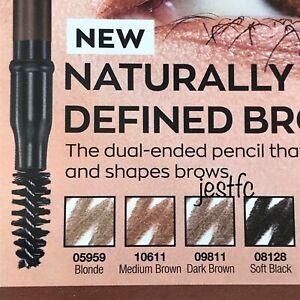 Avon DUAL-ENDED Brow Pencil VARIES SHADES BLONDE SOFT BLACK MEDIUM DARK BROWN