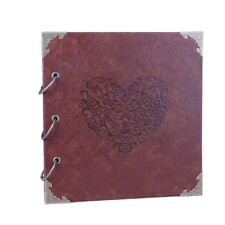 50 Pages High-grade Retro Photo Album Leather Stamping Handmade DIY Gift Albums