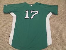 Signed Delcarmen 2008 Game Worn Used Issued Red Sox Jersey Green Celtics  SZ 46