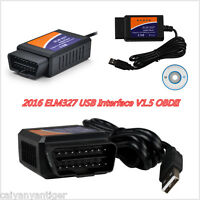 ELM327USB V1.5 Interface OBD2 Auto Car Chip Scanner Adapter Diagnostic Tool 2016