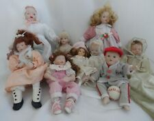 Vintage Porcelain Dolls Lot of 9 Ashton Drake Ganz Zasan Hippensteel +