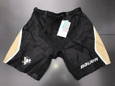 New! Bauer Pittsburgh Penguins NHL Pro Stock Team Hockey Player Pants Shell L +1