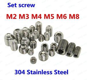 Hilitchi 230Pcs Socket Set Screw Assortment in SAE Sizes Internal Hex Drive Cup Point Allen Grub Screws 12.9 Class Black Alloy Steel 10Sizes