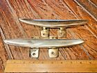 """PAIR OF VINTAGE CAST SOLID POLISHED BRONZE 8"""" CLEATS"""