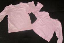 2 süße Mädchen Langarmshirt Gr. 68 von H&M Baumwolle rosa