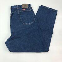 Wrangler Denim Jeans Mens 42X32 Blue Straight Leg Cotton Medium Wash 5 Pockets