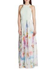 Ted Baker 'Beula' Sugar Sweet Floral Print Maxi Chiffon Dress | Pale Green sz: 0