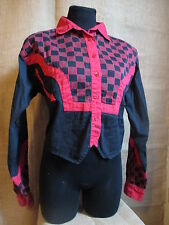 Ozark Mountain Jean Co Western Country Red Black Checkered Jacket Shirt Top L