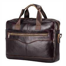 Men's Genuine Leather Briefcase Laptop Bag Messenger Shoulder Bag Business Case