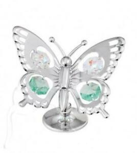 Crystal Silver Swallow Tail Butterfly