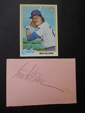 Mick Kelleher, Autographed on a piece of cardboard with Baseball card, Shortstop