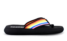 Rocket Dog Womens UK 4 EU 37 Multi Coloured Strap Flat Flip Flip Thong Sandals