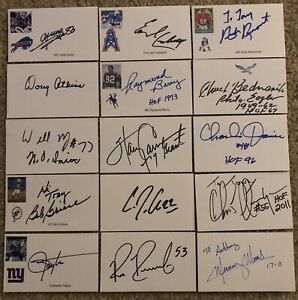 171 NFL Signed Index Card Lot Many HOFers And Stars!!!