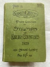Stanley Gibbons' Catalogue, Part 2 Stamps of Foreign Countries, 1929 Book