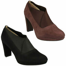 Clarks Women's 100% Leather Mid Heel (1.5-3 in.) Shoes