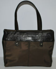 Banana Republic Brown Nylon & Leather Ladies Purse Laptop Business Tote
