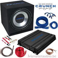 CRUNCH CBP1000 Verstärker Gehäusesubwoofer Kabelset 1000 Watt Basspaket Auto Set