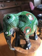 Hand Painted Wooden Indian Elephant