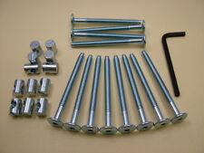 Bed / cot bolts 12 sets of M6 x 75mm bolt, allen key & 14mm barrel nut= 25 items