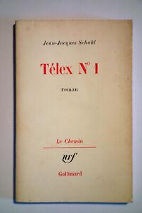 Jean Jacques SCHUHL Télex N 1 Édition originale Exemplaire du service presse
