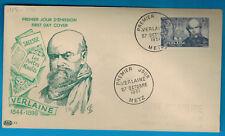 1951 - Enveloppe 1°Jour - Paul Verlaine - OBL.Metz - Timbre.Yv.909