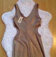 New Gold Contour Dress