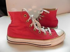 Converse~Chuck Taylor~Red High Top Tennis Shoes Mens 5 Womens 7