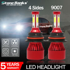 2X 9007 HB5 4side Hi/Lo Beam 16000LM LED Headlight Conversion Kit Bulbs 6000K
