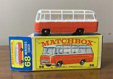 🔥🔥VINTAGE LESNEY MATCHBOX SERIES #68 MERCEDES COACH W/ORIGINAL TYPE E4 BOX🔥🔥