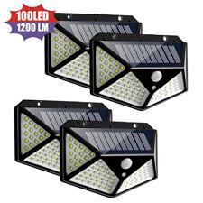 4PCS LED Solar Power Wall Light Motion Sensor Outdoor Waterproof Lamp NEW IT
