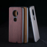 Case for Motorola Moto G7 G5S G6 G7 Plus Luxury wood leather case silicone cover