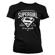 DC UNIVERSE SUPERGIRL STRONGER camiseta mujer girlie-shirt official license