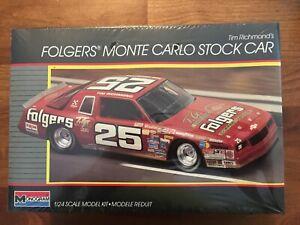 LAST ONE!  1986 Monogram #25 Folgers Tim Richmond Monte Carlo 1/24 Model Kit